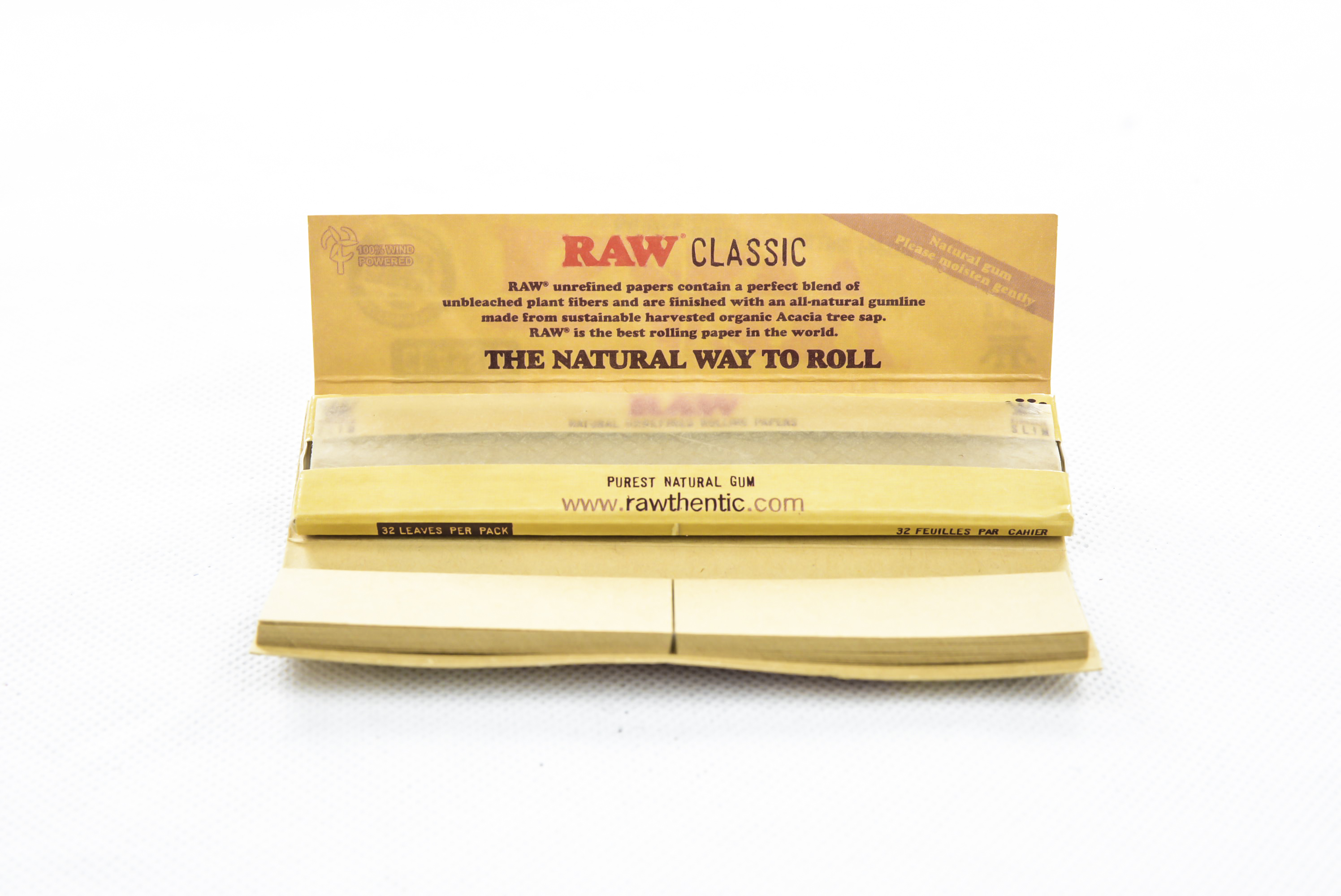 Raw Original Connoisseur Rolling Papers (With Tips)