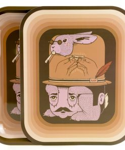 raw large rolling tray rabbit hat